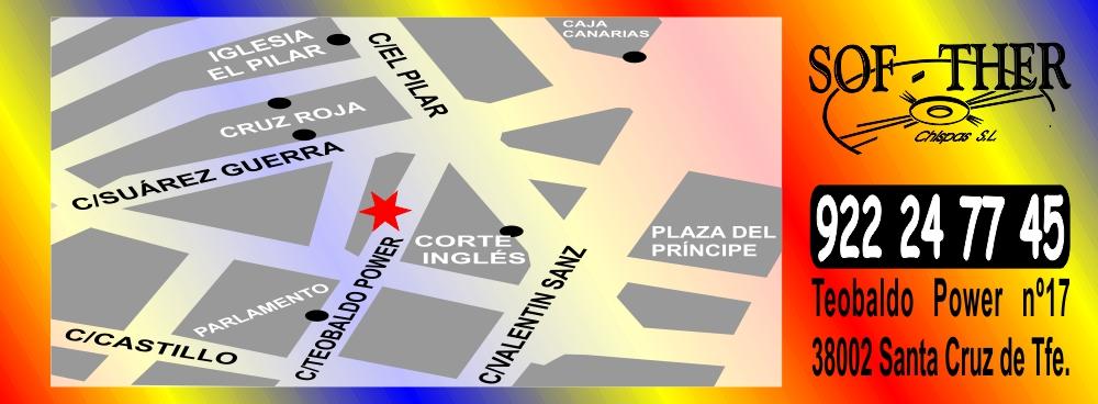 Sof-Ther Chispas SL Mapa